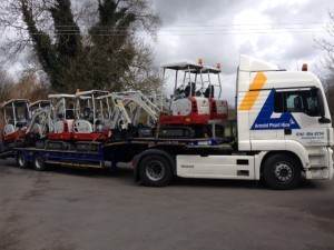 Scotts Plant Hire Ltd receive new Takeuchi TB216's